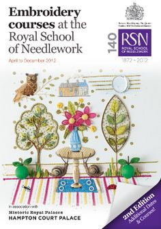 Royal School of Needlework - Keeping the art of hand embroidery alive Ah, to have been so honored as to attend just one class at this prestigious school. Silk Ribbon Embroidery, Embroidery Thread, Embroidery Applique, Cross Stitch Embroidery, Embroidery Patterns, Machine Embroidery, The Royal School, Needlework Shops, Cross Stitching