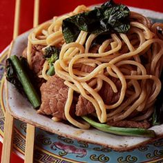 Lo Mian (Egg Noodles with Beef and Chinese Broccoli) Recipe | SAVEUR
