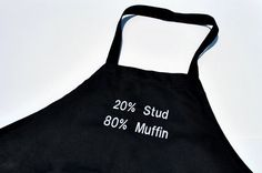 Stud Muffin Black Cotton Mens  Neck by YellowBugBoutique on Etsy, $24.00