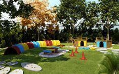 Cat Daycare, Hotel Pet, Backyard Dog Area, Indoor Dog Park, Dog Enrichment, Dog Kennel Designs, Dog Playground, Dog Yard, Dog Grooming Business