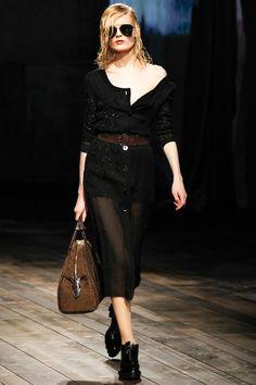 Grunge Sheer #LBD Black Dress I Prada #Fall2013