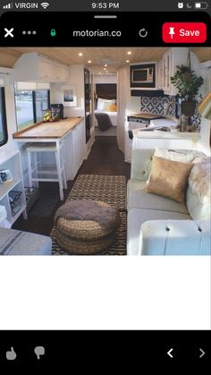 Van Living, Tiny House Living, Home Design Decor, House Design, Moble Homes, School Bus Tiny House, Airbnb House, House Flippers, Rv Homes