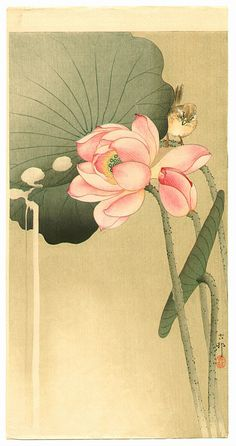 Ohara Koson: Songbird and Lotus - Ca. 1930s