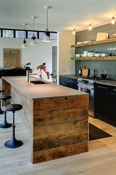 Modern rustic kitchen ideas, rustic vintage kitchen design modern - digsdigs, the interior design of rustic in the house is dominated by wood Kitchen Furniture, Kitchen Interior, Interior Modern, Interior Design, Furniture Design, Interior Ideas, Office Furniture, Bedroom Furniture, Home Goods Decor