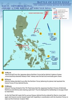 Biggest Naval Battle in History: The Battle of Leyte Gulf - Day 2 (Slide #3)