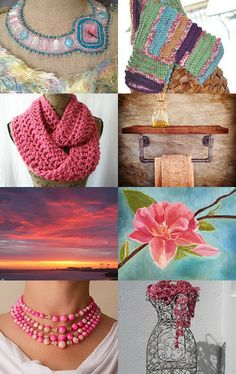 My yoga mat bag is featured here - Pinking of You by venus garcia on Etsy--Pinned with TreasuryPin.com