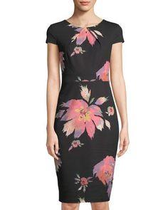 cc9d5ac00f3 Floral-Print Short-Sleeve Sheath Dress Jax Dresses