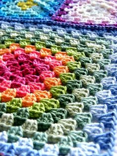 Annie's Place: Granny Square Sneaky Peek Gorgeous colours.