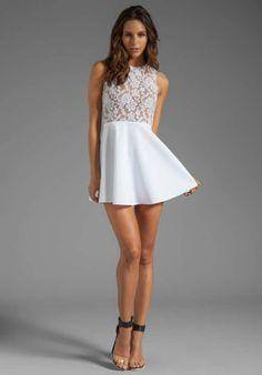 vestidos de 15 sencillos blancos - Buscar con Google