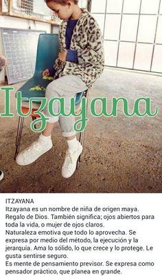 Nombres de niñas, significado del nombre Itzayana; Beatríz Itzayana
