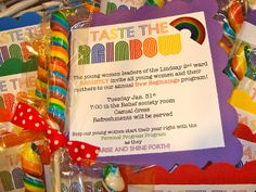 New Beginnings Rainbow Invitation. From Marci Coombs Blog