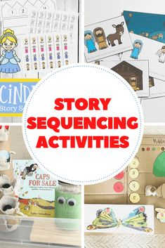 Use these story sequencing activities for preschoolers to help your little ones practice ordering events. They're great for storytelling, too! Sequencing Cards, Story Sequencing, Sequencing Activities, Preschool Learning Activities, Reading Activities, Educational Activities, Children Activities, Pete The Cat Author, Education Humor