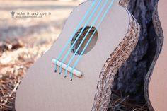Rock on!! DIY::Cardboard Guitars | Make It and Love It