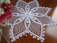 crochet star doily easter decoration lace French star centerpiece napperon white cotton wedding unique birthday gift for mom home decorFine lace crochet doily all handmade FRENCH STAR Size: diameter inches, 42 cm. Unique Birthday Gifts, Mom Birthday Gift, Unique Gifts, Handmade Gifts, Crochet Doily Patterns, Crochet Doilies, Crochet Lace, Cotton Crochet, Thread Crochet