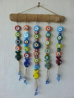 Colorful evil eye mobile for home. My favorite stuff on my wall… EV AKSESUARLARI. Colorful evil eye mobile for home. My favorite stuff on my wall at the work area. Mobiles, Diy Home Accessories, Working Area, Evil Eye, Painted Rocks, Bunt, Wind Chimes, Diy Home Decor, Diy And Crafts