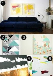Abstract Art DIY on the Interior Collective