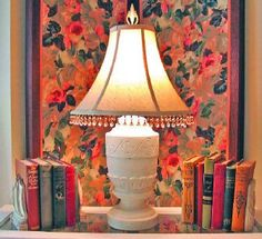 Old books, old lamp and old fabric screen. Old favorite. (Photo by Cheryl-Anne Millsap)