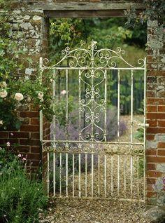 Vintage Wrought Iron Garden Gate