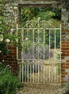 Vintage Wrought Iron Garden Gate