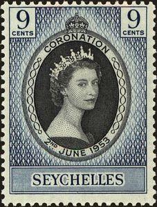 Sello: Coronation (Seychelles) (Coronation of King George VI and Queen Elizabeth I) Mi:SC 169,Sn:SC 172