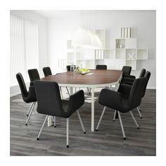 BEKANT Conference table - gray/white - IKEA