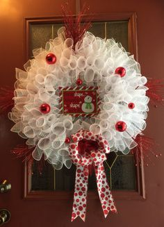 A personal favorite from my Etsy shop https://www.etsy.com/listing/254962644/redwhite-wreath