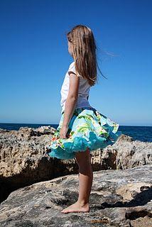 Pettiskirt   This twirly overskirt has a rolled hem