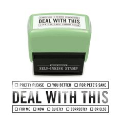 """Self-Inking Stamp - """"Deal With This"""" by Knock Knock"""