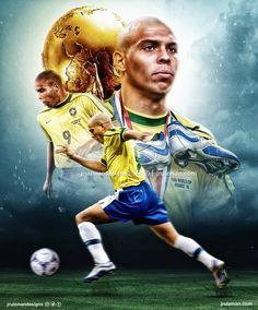 Ronaldo Inter, Ronaldo 9, Ronaldo Real Madrid, Brazil Football Team, World Football, Football Soccer, Fifa, Soccer Photography, Soccer Art