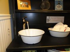 Laundry room sink. Old wash basin. Mom would like this.