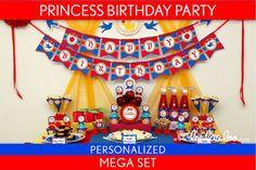 Princess Birthday Party Package Collection Set Mega Personalized Printable // Snow White Princess - B25Pz2 via Etsy
