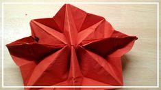 Servietten Falten Stern 👈   Weihnachts Deko Serviettenfalten Origami  Freude Modern Kinder Basteln Servietten Falten