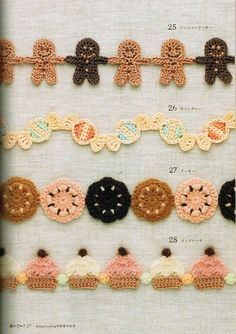 Crochet Borders japanese crochet garlands for christmas - Christmas crochet patterns are everywhere, but what are the good ones? Here are 16 of my favorite crochet projects for Christmas time. Crochet Diy, Crochet Garland, Crochet Amigurumi, Crochet Chart, Crochet Motif, Crochet Stitches, Crochet Edgings, Crochet Flowers, Crochet Appliques