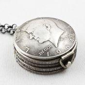 another talented artist uses coins Stacey Lee Webber - http://www.staceyleewebberstore.com/lockets_c12.htm jfk's lucky locket
