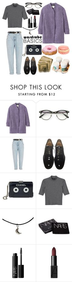 """""""cute spring outfit"""" by pollyfrank ❤ liked on Polyvore featuring Rebecca Taylor, River Island, Givenchy, Chanel, Monki and NARS Cosmetics"""