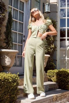 Nasty Gal What's Dot into You Spotty Wide-Leg Pants Summer Outfits, Casual Outfits, Cute Outfits, Fashion Outfits, Womens Fashion, Wide Leg Pants Outfit Summer, Film Fashion, Dress Summer, Colourful Outfits