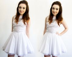 Evening Wear | White Lace / Just Little Things #fashion #blogger #fbloggers #dress #lace #jonesandjones