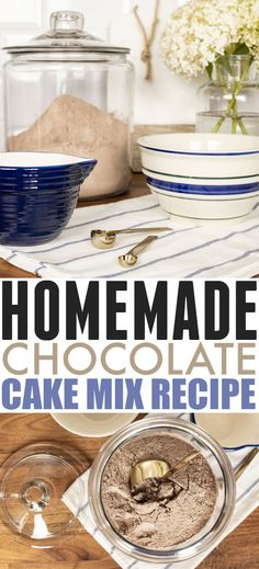 Homemade Chocolate Cake Mix Recipe | The Creek Line House Chocolate Cake Mix Recipes, 30 Minutes Or Less, Poke Cakes, Piece Of Cakes, Pound Cake, Frosting, Easy Meals, Homemade, Desserts