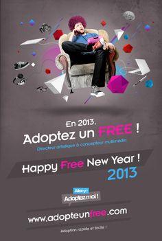 www.adopteunfree.com by So Happy , via Behance