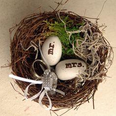 Porta-alianzas de musgo y tipo nido 1
