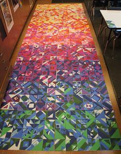 Another great collaborative idea from Don Masse Collaborative Art Projects For Kids, Collaborative Mural, Class Art Projects, Classroom Art Projects, Art Projects For Adults, Art Classroom, Group Projects, School Murals, Art School