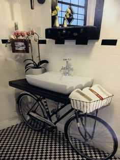 bathroom-design-ideas-8__880 Bicycle Sink Here's one way to recycle your old bike!