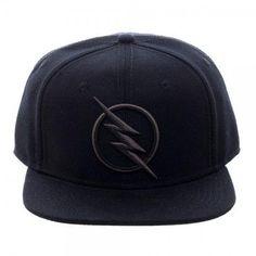 ab9b3c25dbd DC Comics Zoom Flash Logo Black Snapback Cap Hat