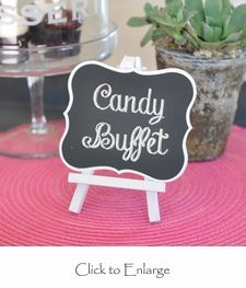 """Vintage Framed Chalkboard Table Easels. Perfect for any table (programs, candy buffet, guest book table, etc)  Size: 4.75"""" x 6"""". #Weddings Daisy-Days.com"""