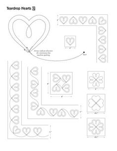 Quilting Ideas Patterns Projects 19 New Ideas Quilting Stitch Patterns, Machine Quilting Patterns, Easy Quilt Patterns, Quilt Stitching, Quilting Tutorials, Quilting Projects, Quilting Ideas, Quilted Placemat Patterns, Heart Quilt Pattern