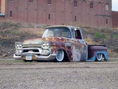 Well hello there  gmc  gmctruck  Apache  patina  krusty  bagged     The most beautifull American Pick Ups