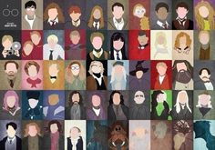 Harry potter cast- I could name all but the man in red in row 3 Stickers Harry Potter, Harry Potter Cartoon, Harry Potter Printables, Harry Potter Poster, Mundo Harry Potter, Harry Potter Theme, Harry Potter Aesthetic, Harry Potter Cast, Harry Potter Characters