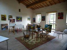 Une grande pièce ,  l'atelier