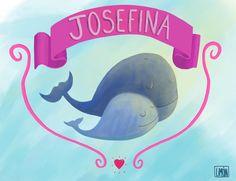 Aburrida de seguir nadando en la panza de mi hermana, Josefina decidió encarar al mundo y, de paso, traer bocha de amor para regalarle a la familia. Bienvenida.  #illustration, #baby