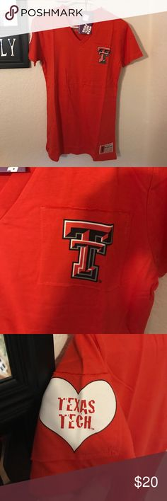 Brand New Texas Tech V neck shirt NWT Texas Tech T shirt. Says XL but probably more like a M/L. Firm on price, paid 45$ Flying Colors Tops Tees - Short Sleeve